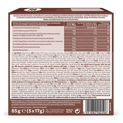 Sticky Toffee Bars - back of pack