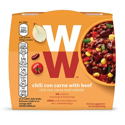Chili Con Carne with Beef - top of pack