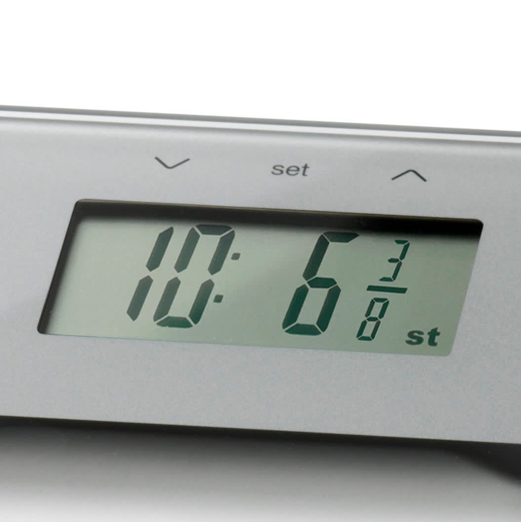 Ultra Slim Glass Body Analyser Scale display