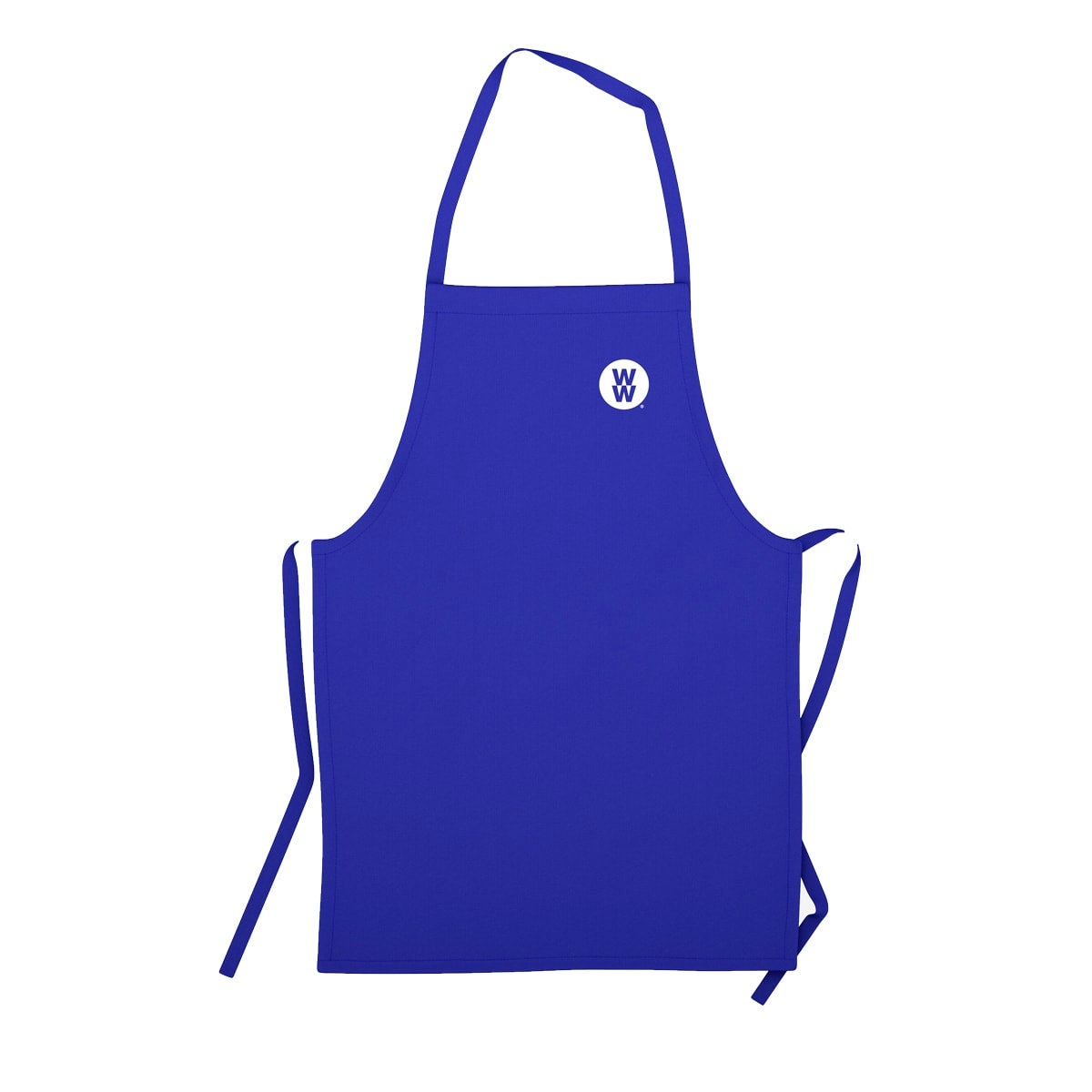 WW Apron, perfect for everyday use, secure tie back and a neck strap to ensure tight fit, colour blue