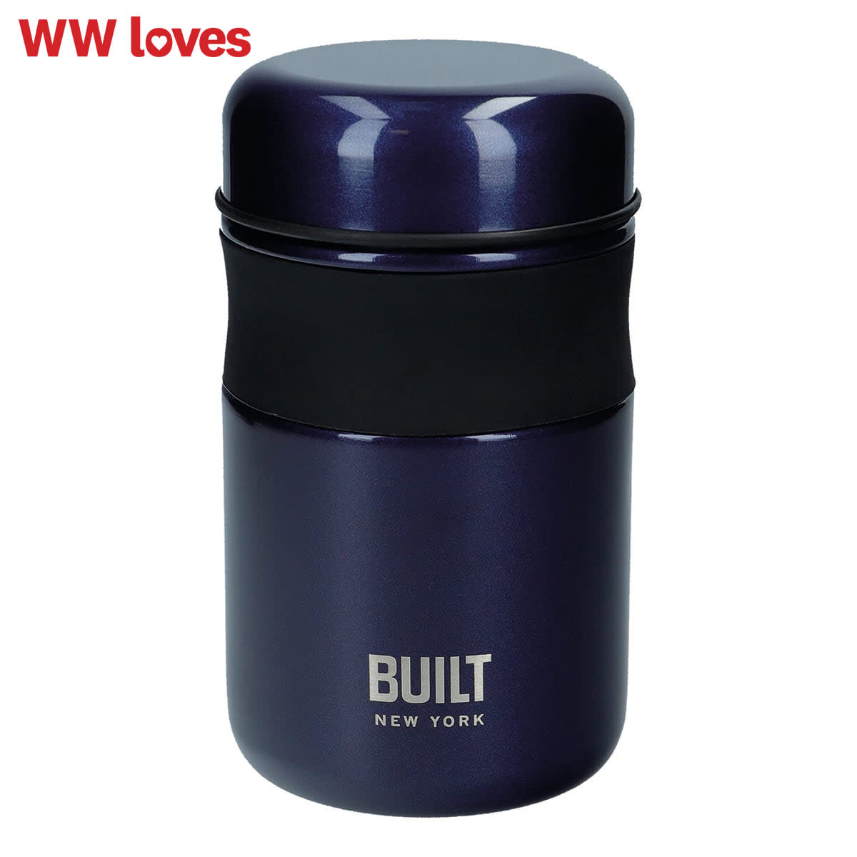 Built 490ml Food Flask, colour rose gold, reusable food flask, leaf proof, BPA free, PVC free, Phthalates Free, 9cm x 15.5cm, keeps food hot for 6 hours and chilled for 24 hours