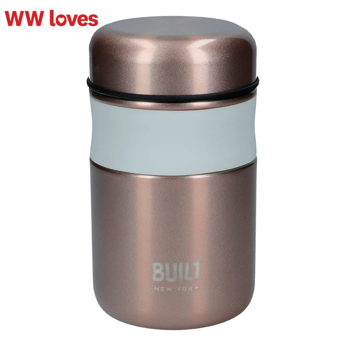 """Built 490ml Food Flask, colour midnight blue, reusable food flask, leaf proof, BPA free, PVC free, Phthalates Free, 9cm x 15.5cm, keeps food hot for 6 hours and chilled for 24 hours """