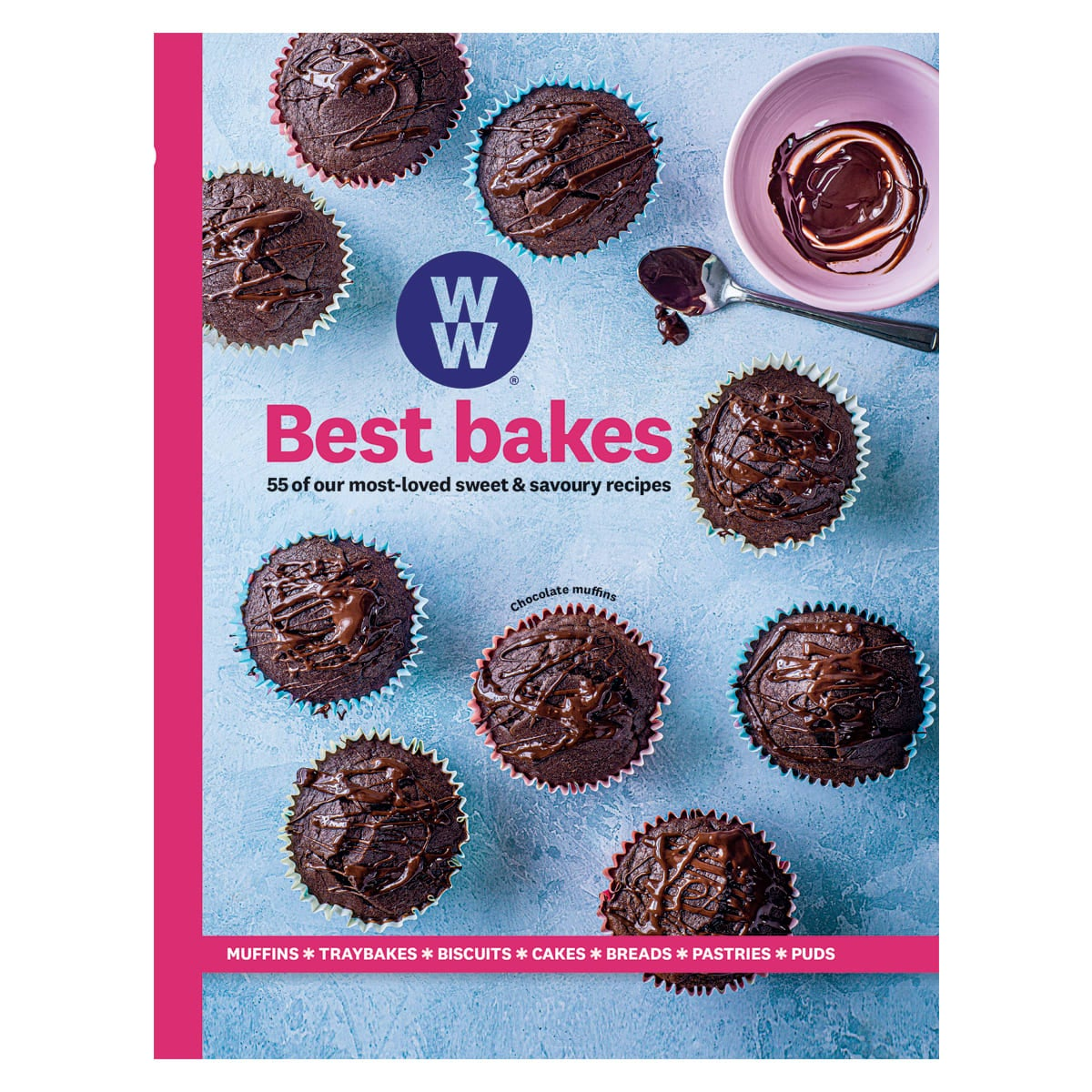 WW Best Bakes Cookbook, 5 sweet & savoury recipes, muffins, traybakes, biscuits, cakes, breads, pastries, puds
