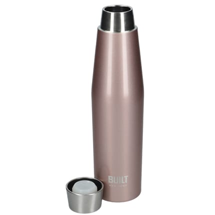 Perfect Seal Water Bottle 540ml - Rose Gold open