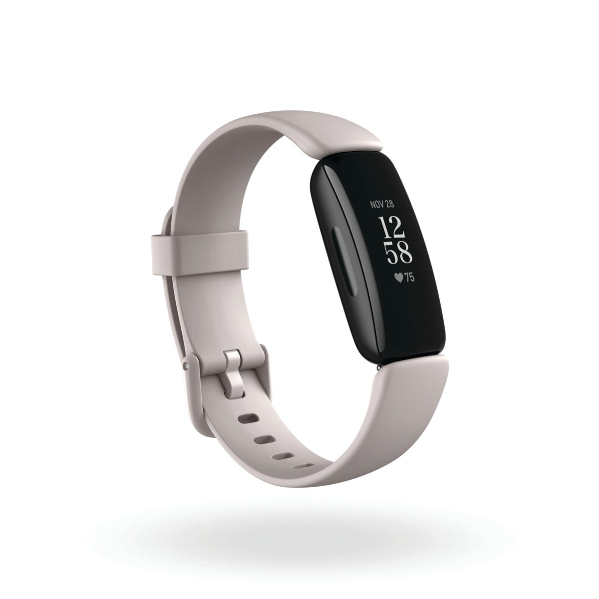 Fitbit Inspire 2, colour white, 24/7 heart rate, cardio fitness level, 20+ exercise modes + SmartTrack, all-day calorie burn, swimproof, up to 10 days of battery, sleep stages