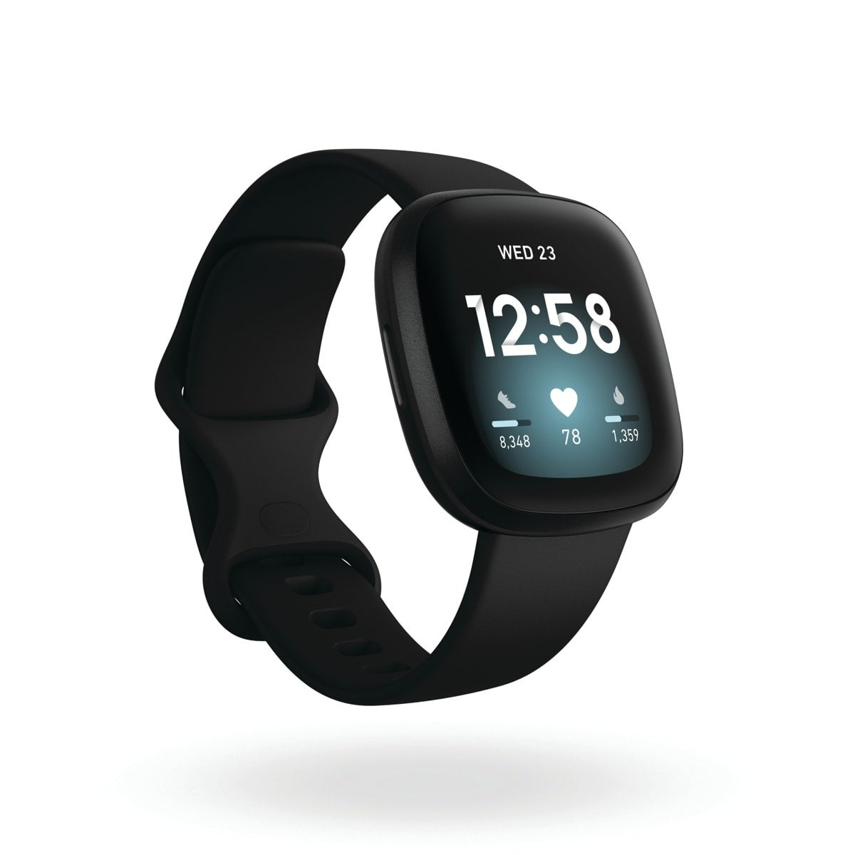 Fitbit Versa 3, colour black, Amazon Alexa built-in, calls from your wrist, built-in GPS, real-time pace and distance, 20+ goal-based exercise modes + SmartTrack