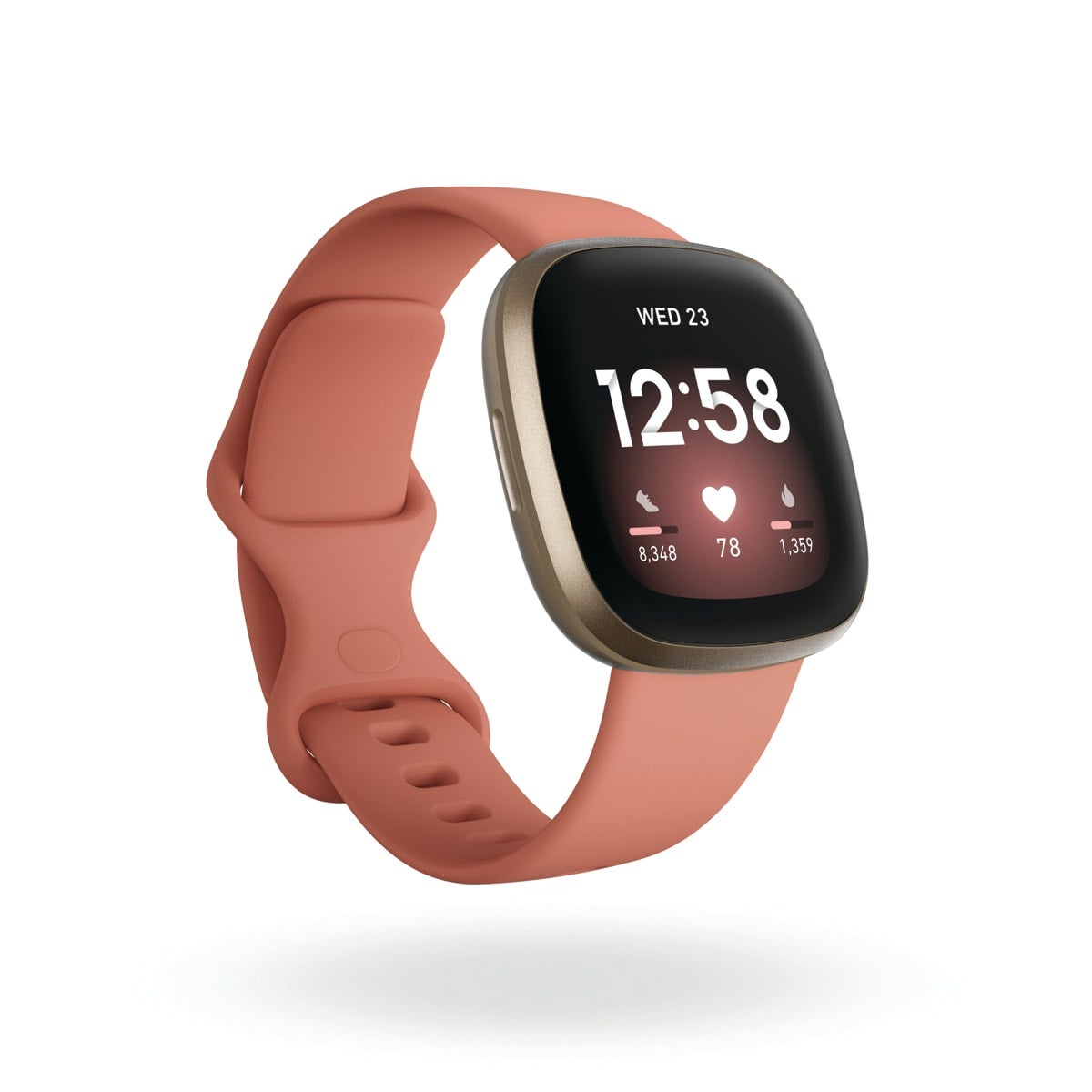 Fitbit Versa 3, colour pick and clay, Amazon Alexa built-in, calls from your wrist, built-in GPS, real-time pace and distance, 20+ goal-based exercise modes + SmartTrack