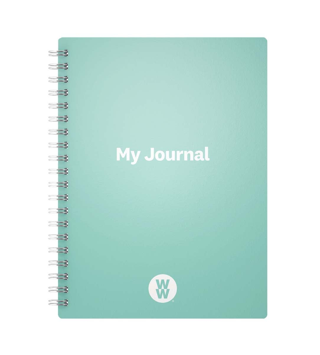 Mint green A5 WW Journal, log SmartPoints®, activity and mood, free bookmark, tracking effective tools for weight loss