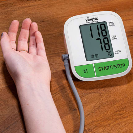 Kinetik - Blood Pressure Monitor being used