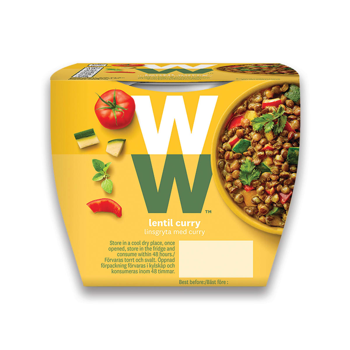 WW Lentil Curry, delicious with rice or on a jacket potato, quick and easy, high in protein, 2 minutes to cook, suitable for vegans