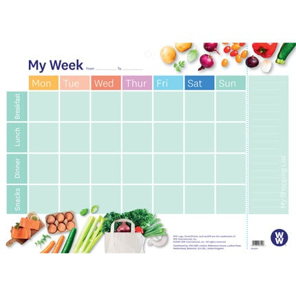 Meal Planner Pad - face on