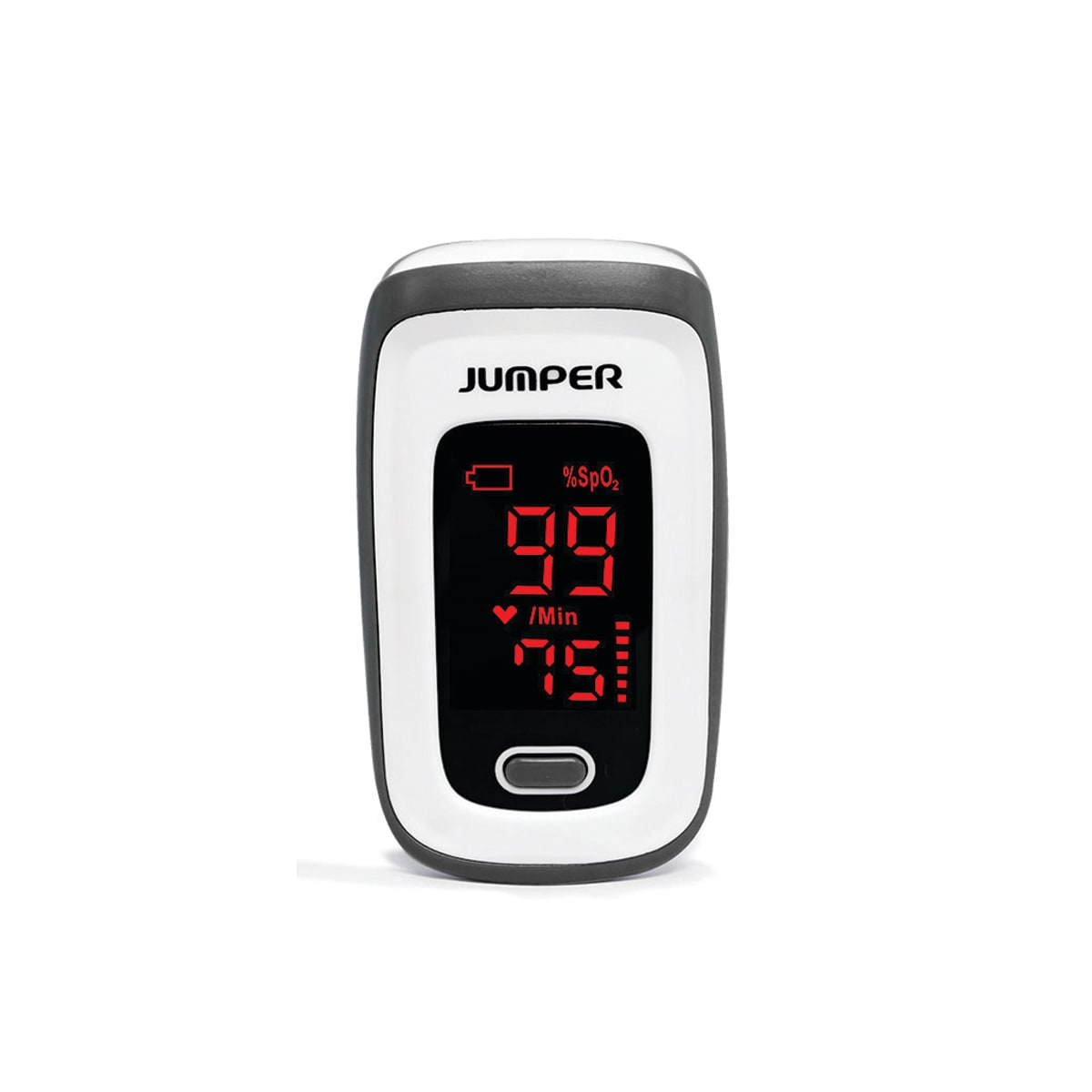 Pulse Oximeter, easy to use and reliable, measures concentration of Oxygen and pulse rate, 30+ hours continuous use, includes lanyard and batteries