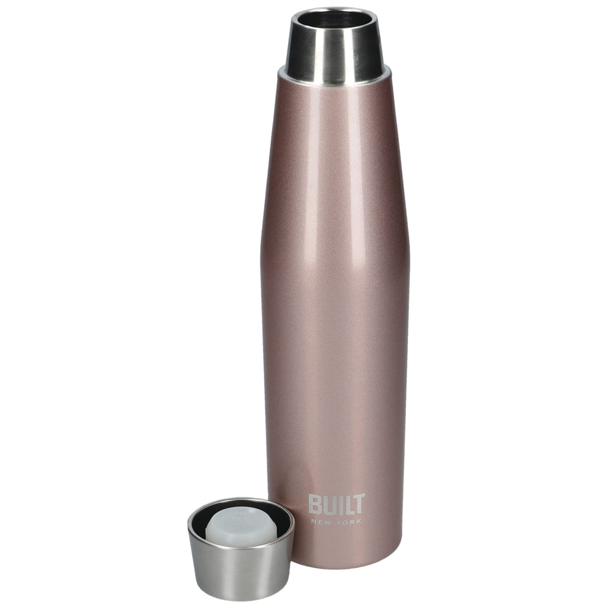 Perfect Seal Water Bottle 540ml, colour Rose Gold, double walled, vacuum-insulated body, stays cold for up to 24 hours and hot up to 6 hours, BPA Free