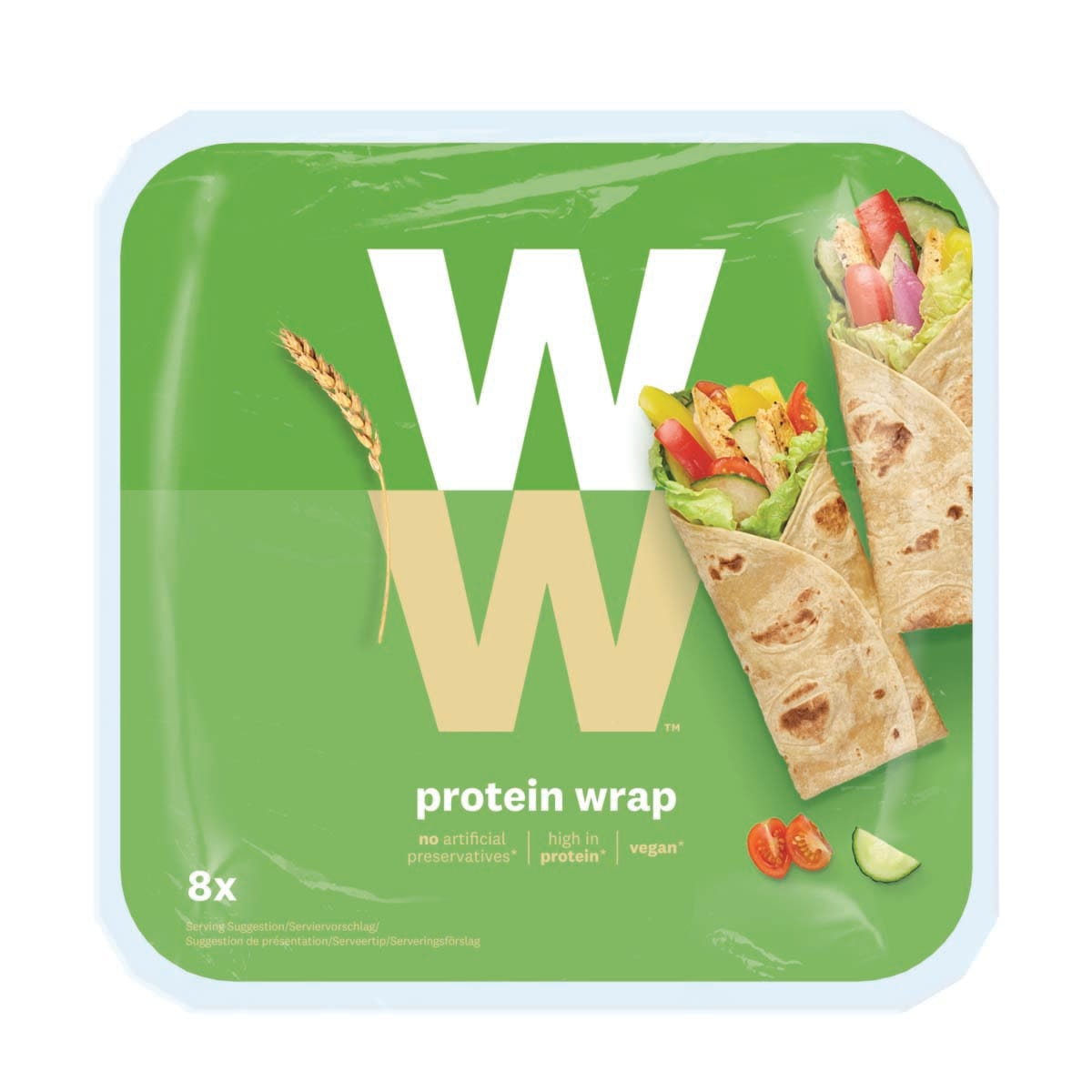 Pack of 8, WW Protein Wrap, made with quinoa flour, perfect for your fillings, high in protein, 3 SmartPoints values, suitable for vegans