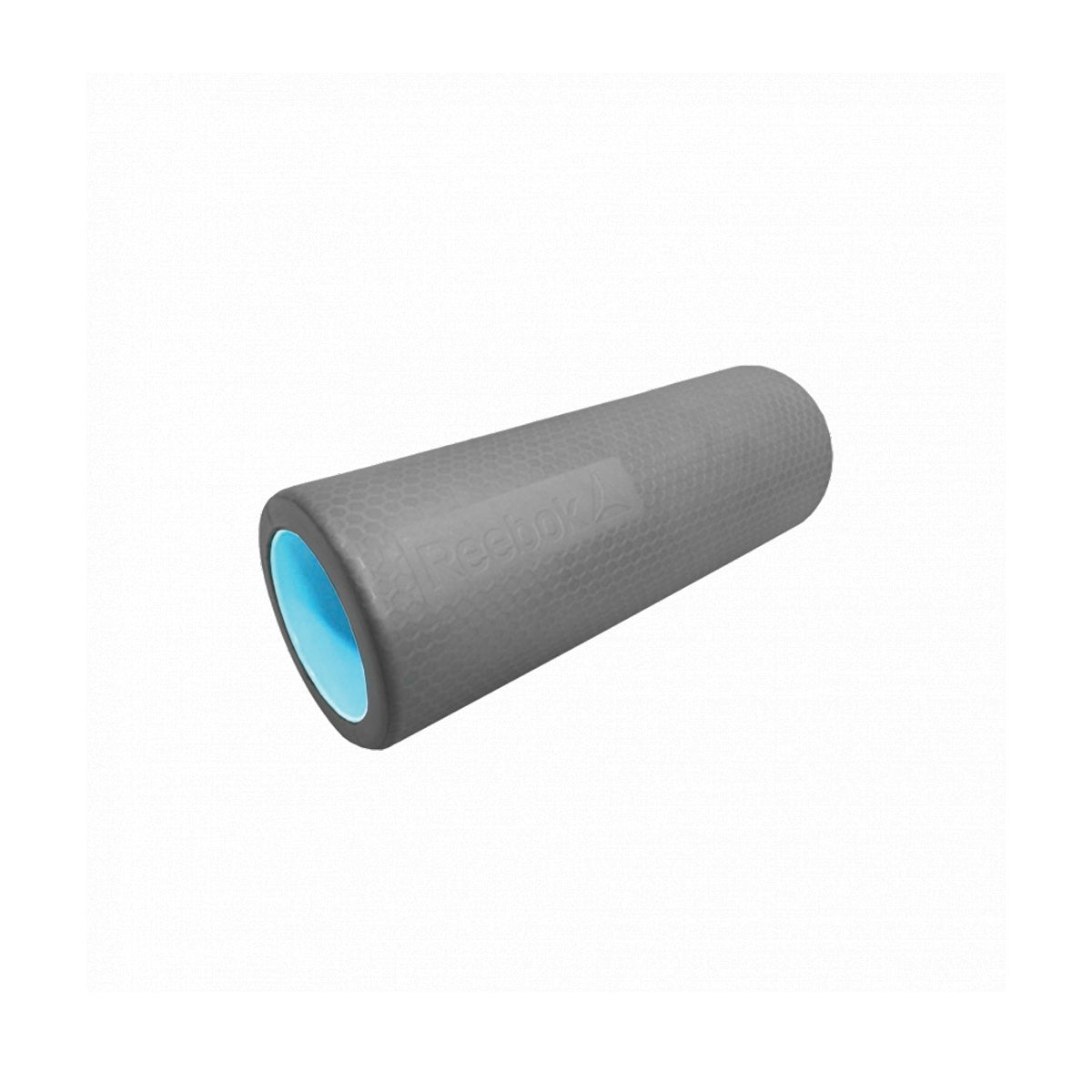 Reebok Tube Foam Roller, easy to clean, non-slip surface, solid plastic core, dimensions HWD: 41x46x61cm, colour grey