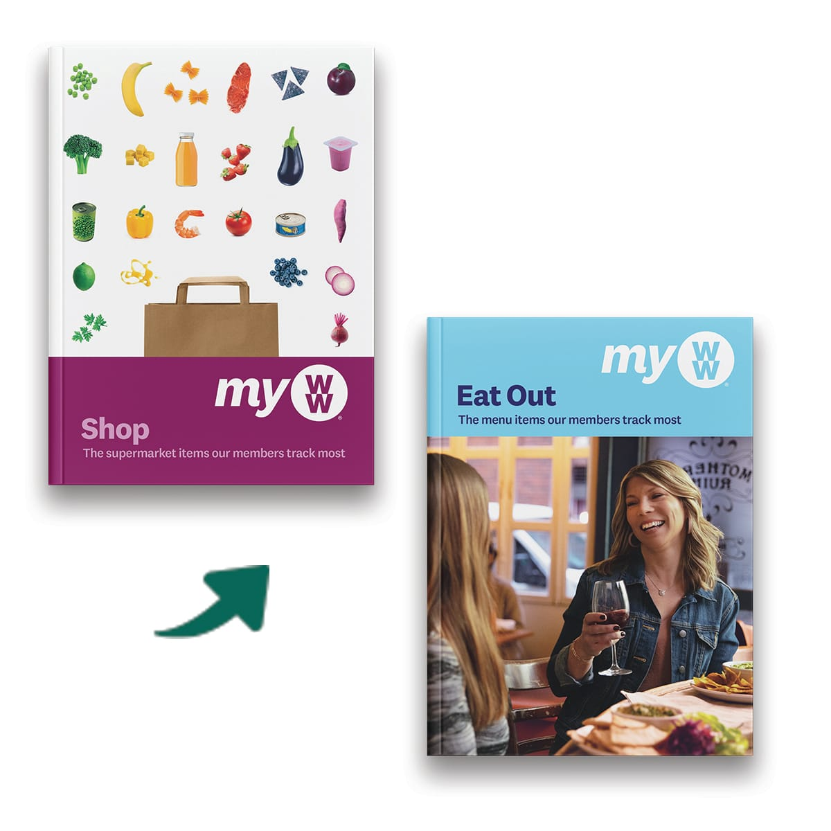 WW Shop and Eat Out Guide, comprehensive book featuring all three plans, hundreds of supermarket products and listed eateries
