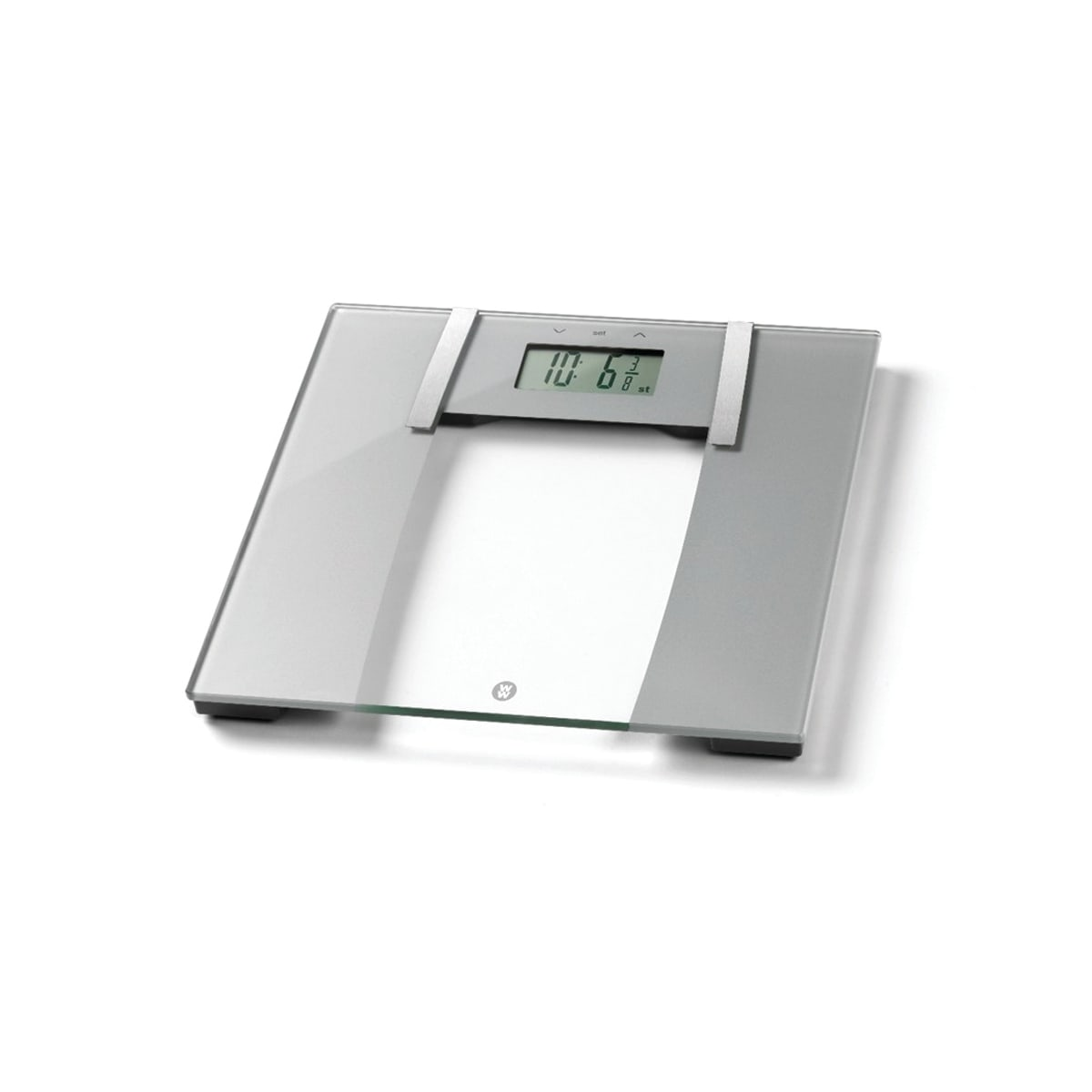 Ultra Slim Glass Body Analyser Scale, Accurately measures body weight, BMI, body water, bone mass and body fat, Weighs in stones, lbs, kgs