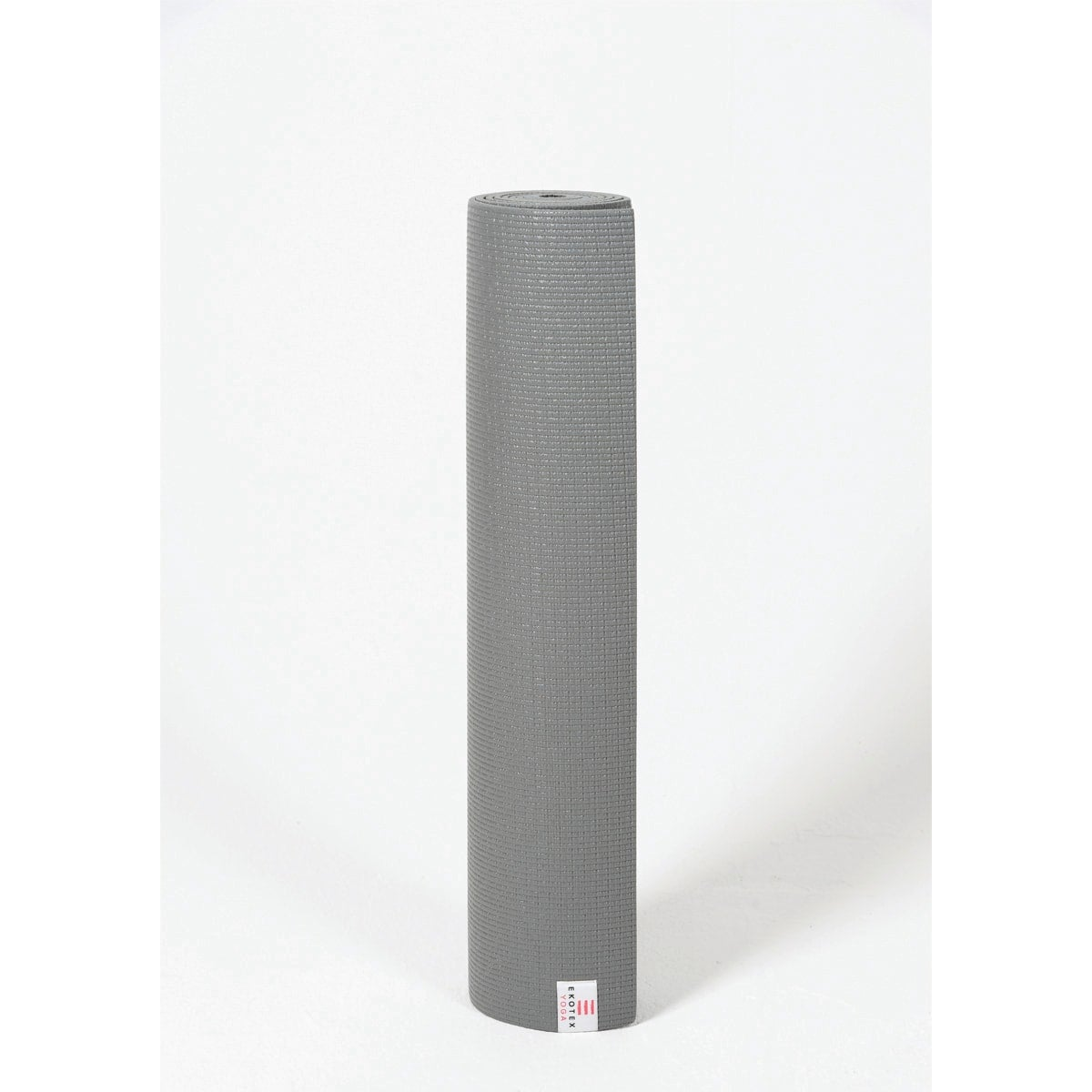 Ekotex Eko Sticky Yoga Mat, colour storm grey, made from PER, thickness 5mm, size 183 cm x 61 cm, eco-friendly material, simple, lightweight