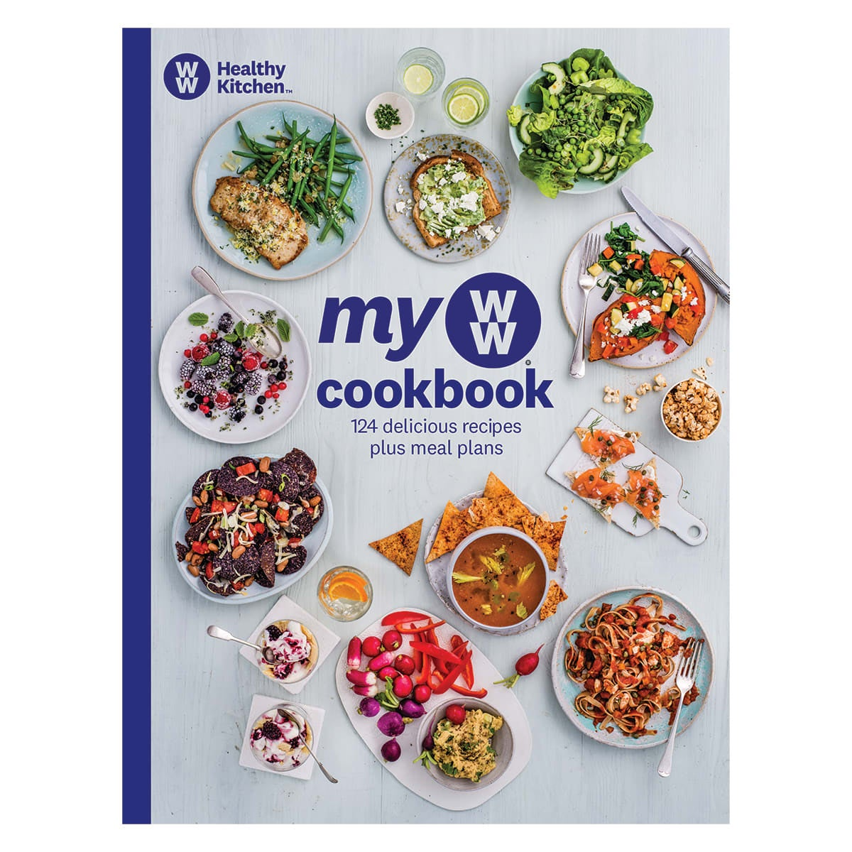 My WW Cookbook, 124 delicious recipes plus meal plans, recipes for breakfast, lunch, dinner, snacks and desserts, useful kitchen tips