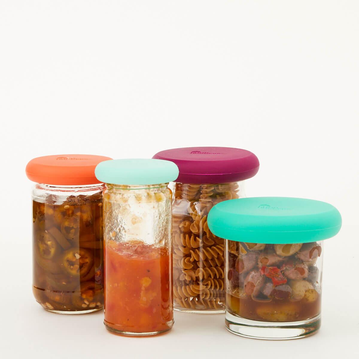 Silicone Food Huggers - jars