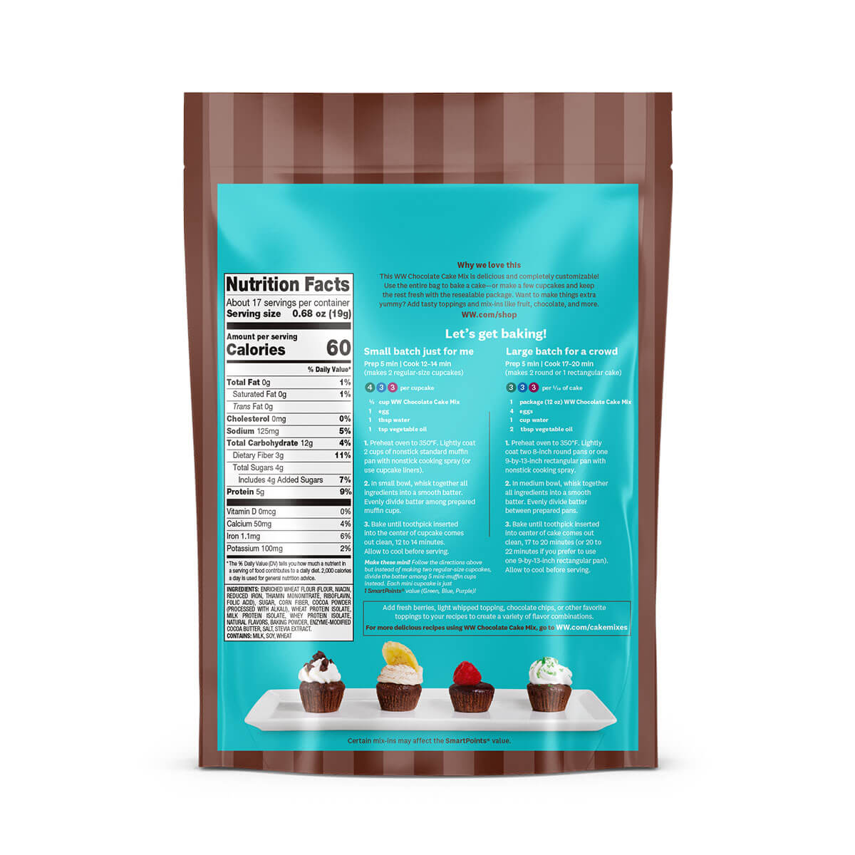 Chocolate Cake Mix- back