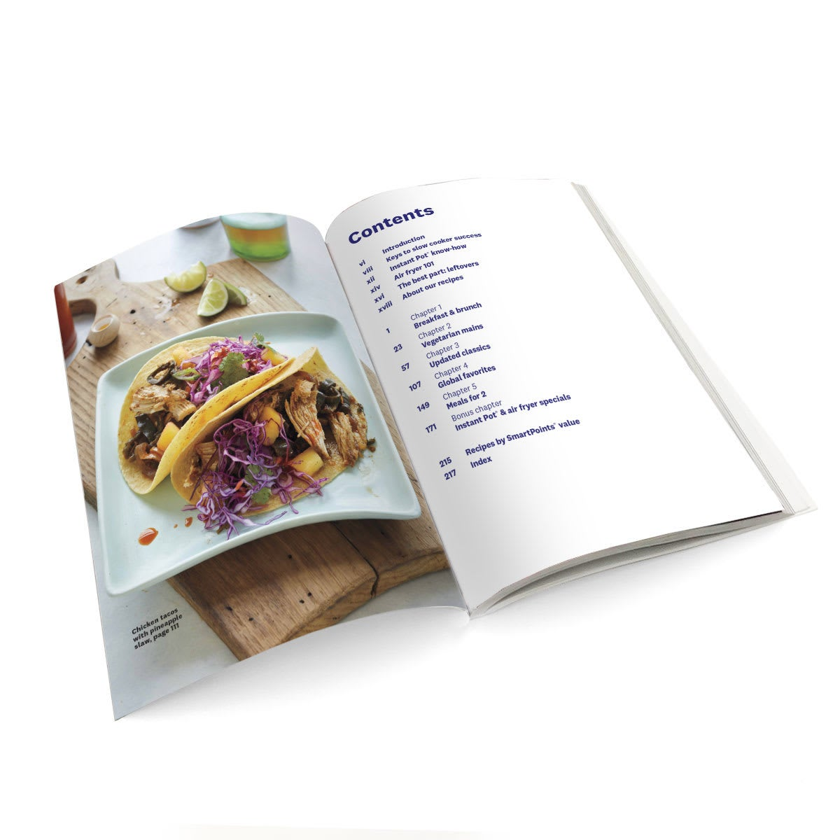 WW Slow Cooker Cookbook - table of contents