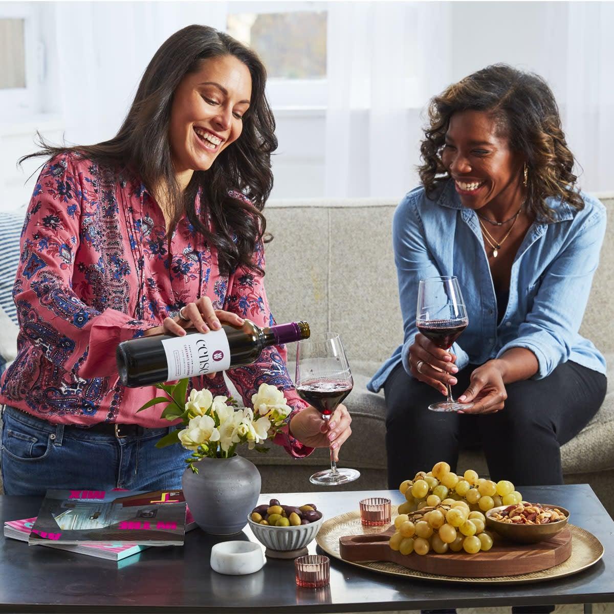 wine glass lifestyle image