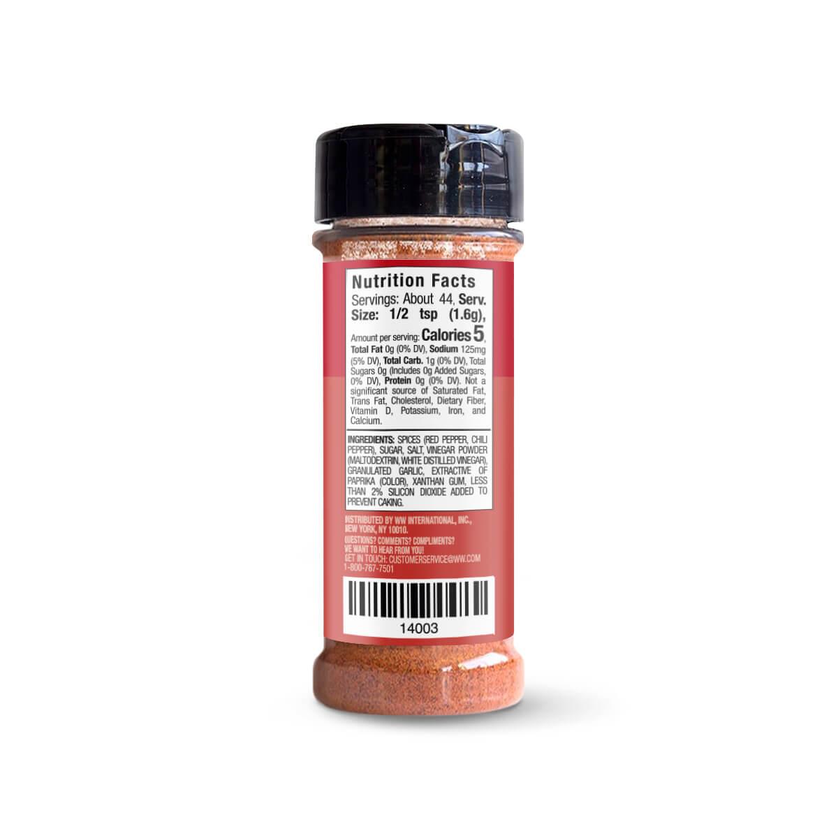Sizzlin Spicy Sriracha Popcorn Seasoning - back