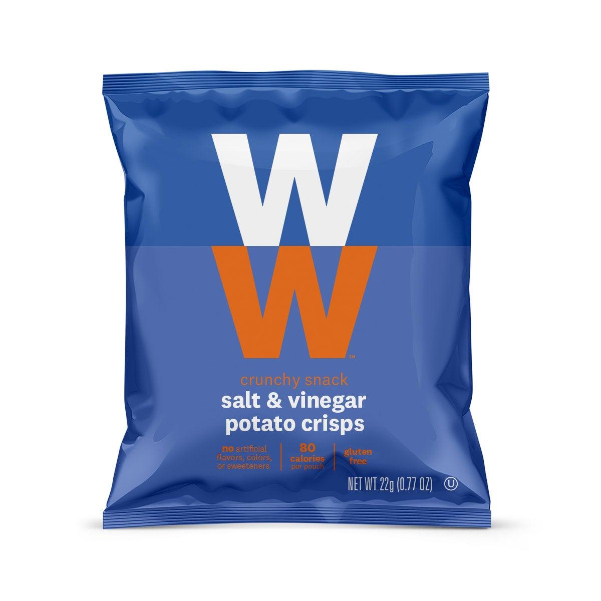 Salt and Vinegar Potato Crisps - front of pouch