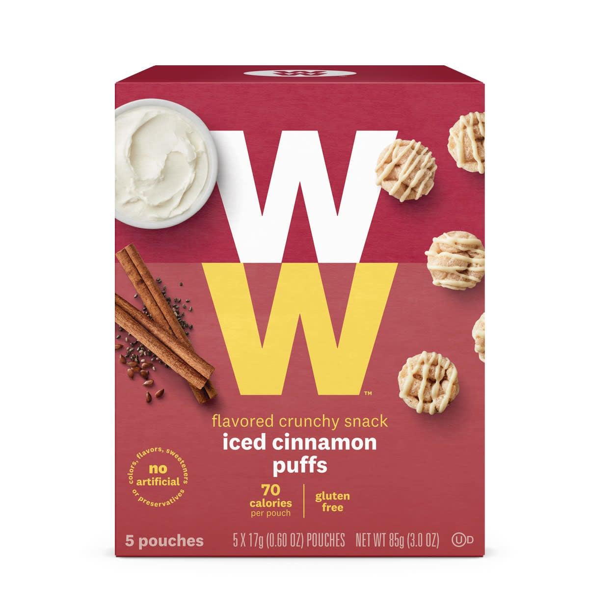 Iced Cinnamon Puffs, 5 pouches, gluten free, 70 calories