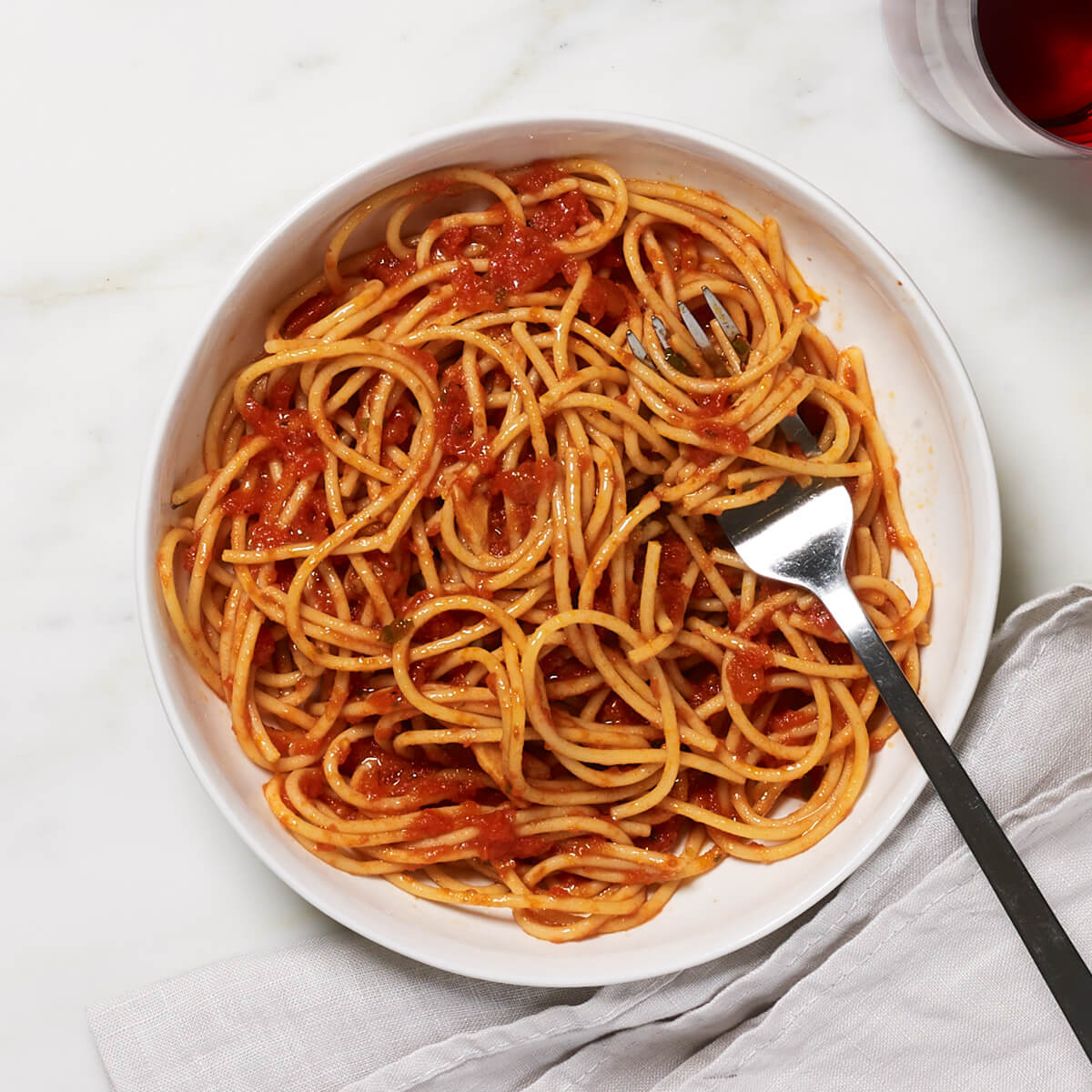 Yellow Lentil Spaghetti - dish