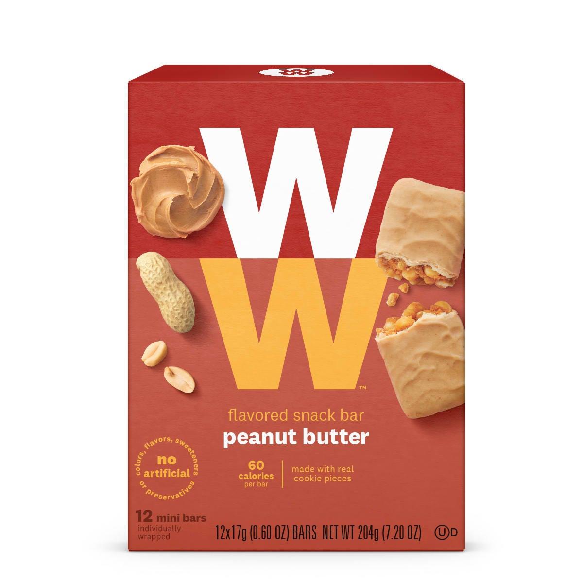 peanut butter mini bar - box front
