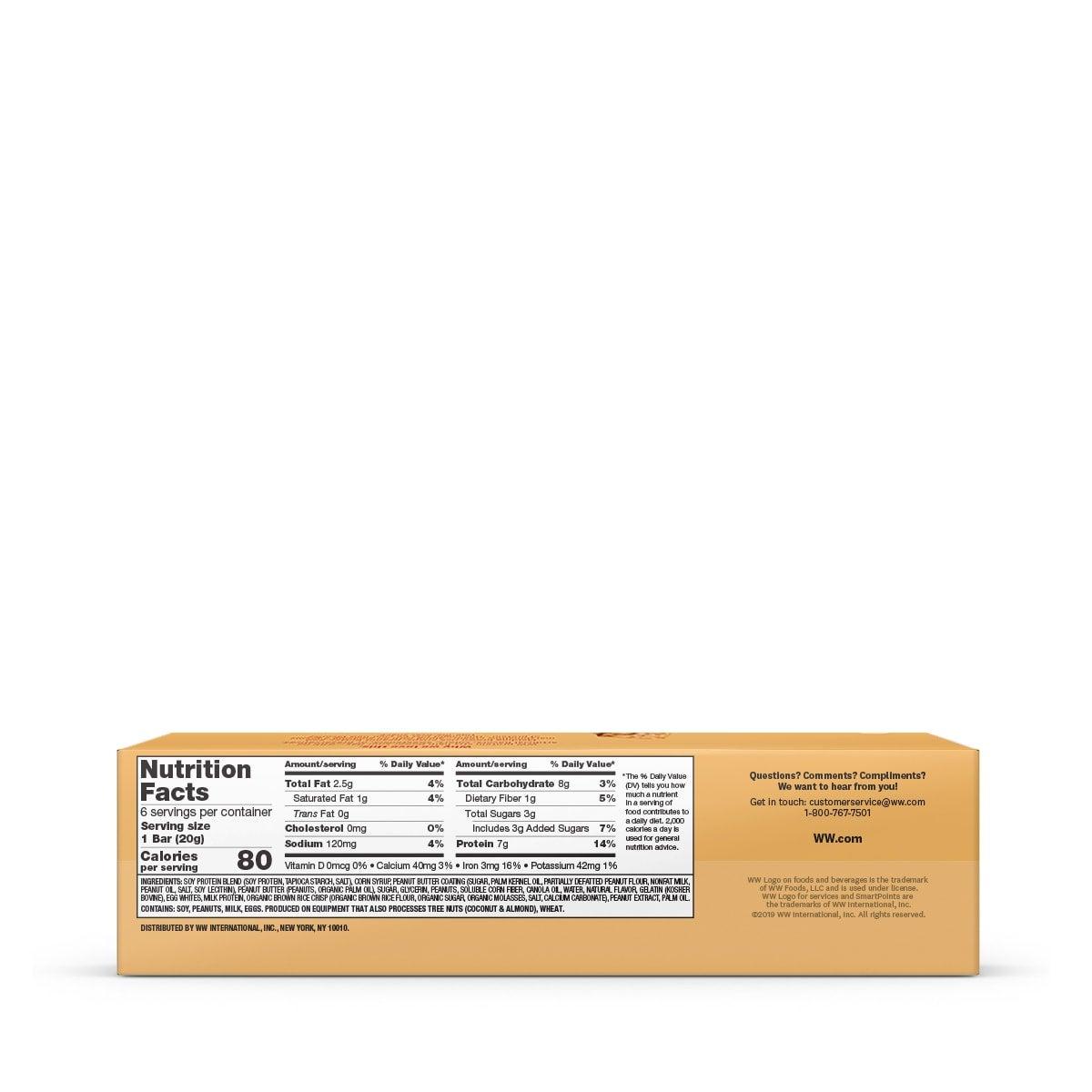 Peanut Butter Protein Stix - back of box