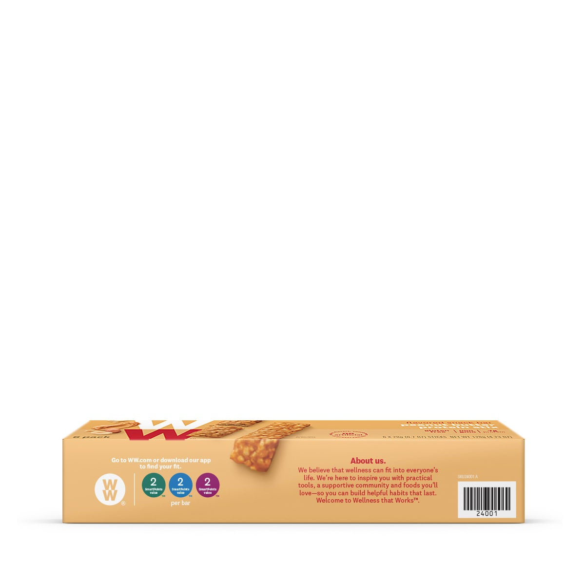 Peanut Butter Protein Stix - side of box