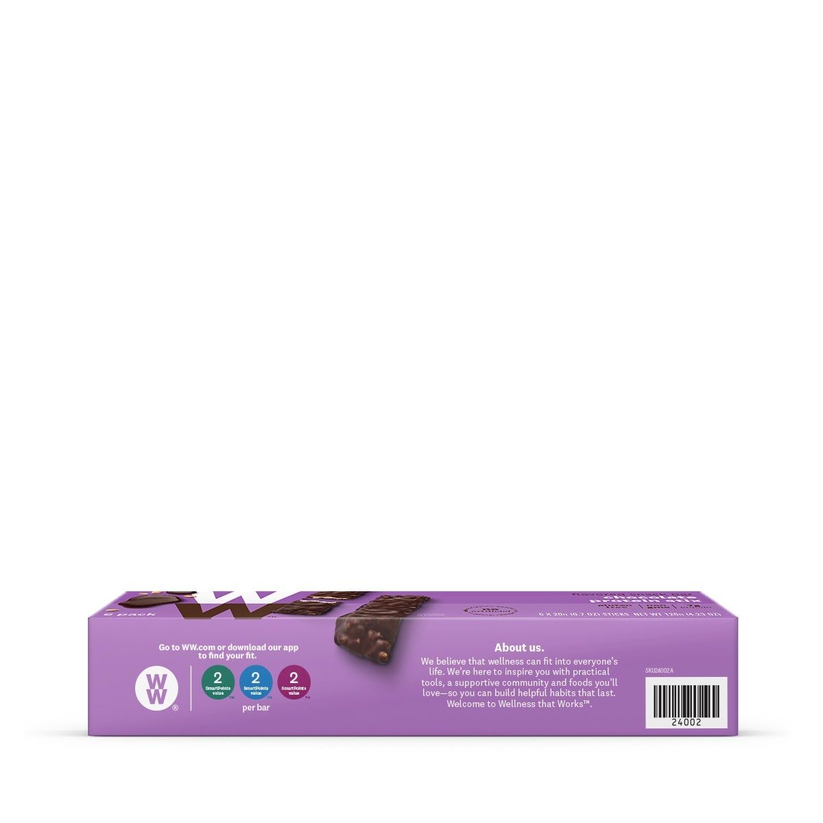 Chocolate Protein Stix - side of box