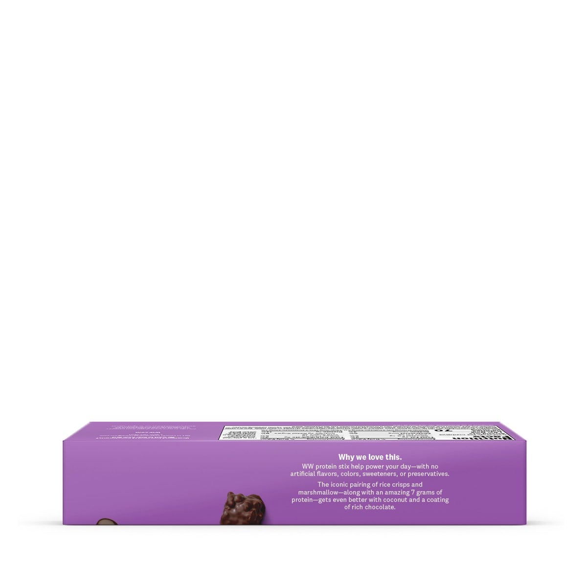Chocolate Protein Stix - side of box 2