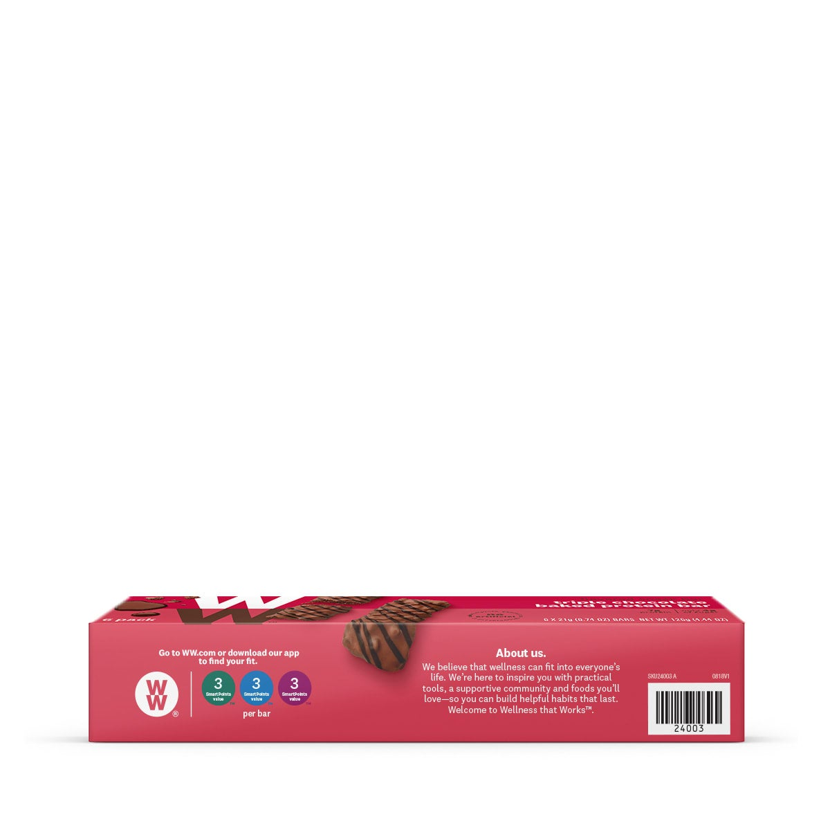 Triple Chocolate Baked Protein Bar - side of box