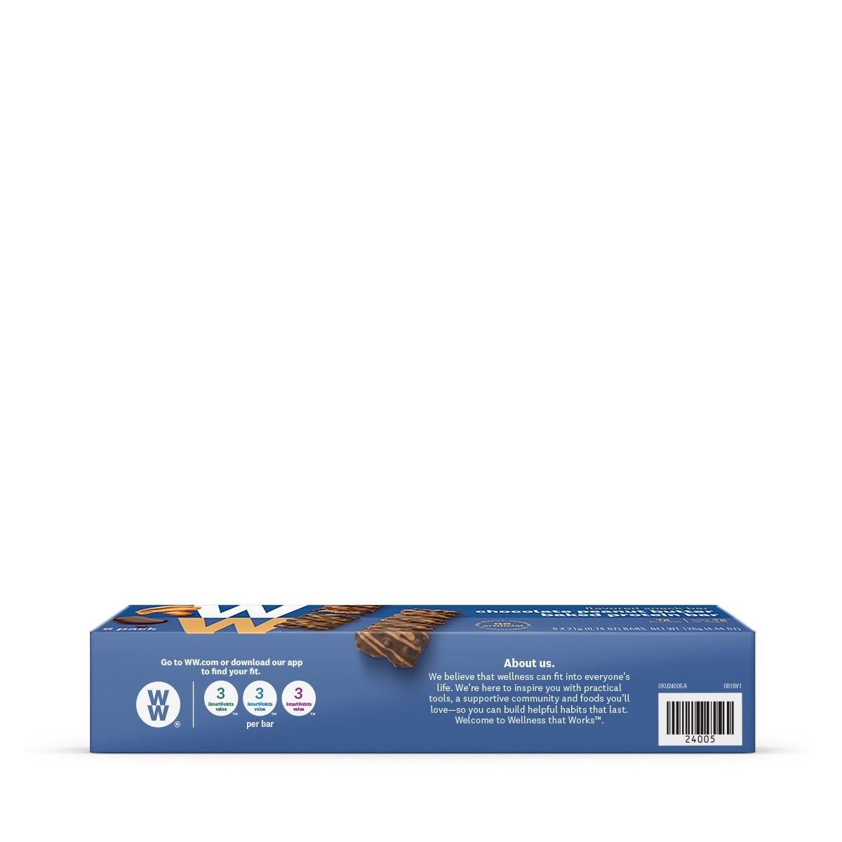 Chocolate Peanut Butter Baked Protein Bar - side of box