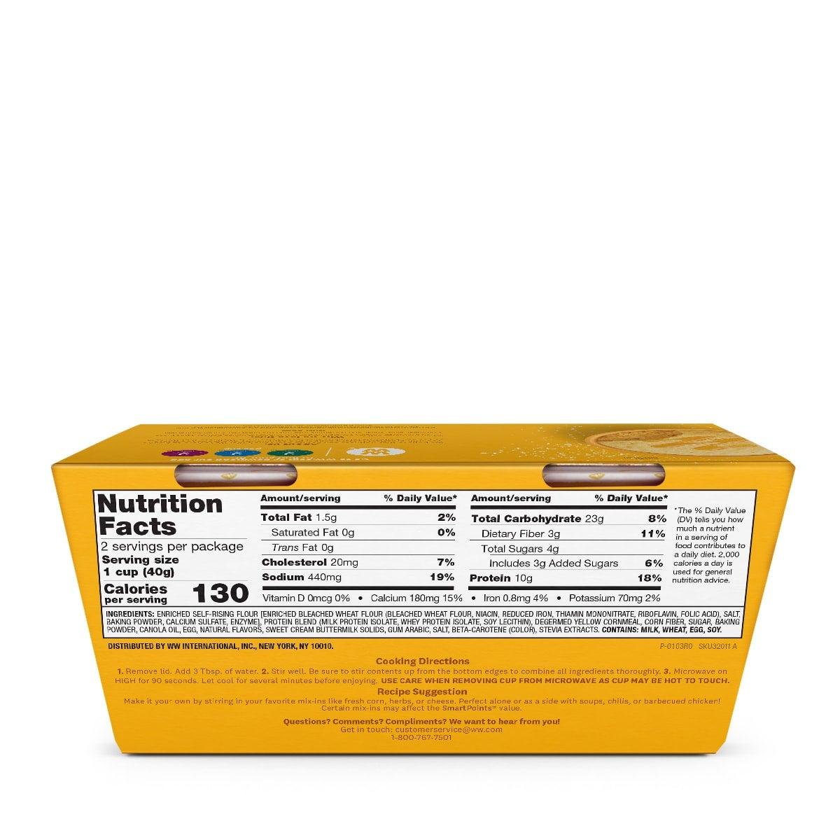 Protein Corn Muffin - back of box