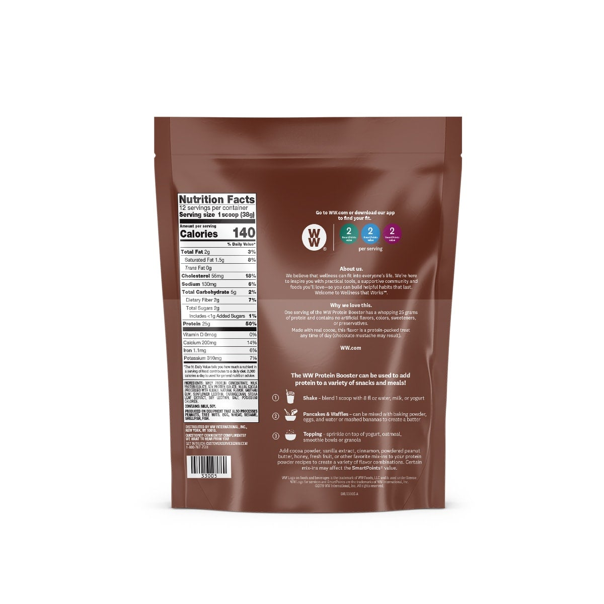 Chocolate Protein Booster - back of pouch