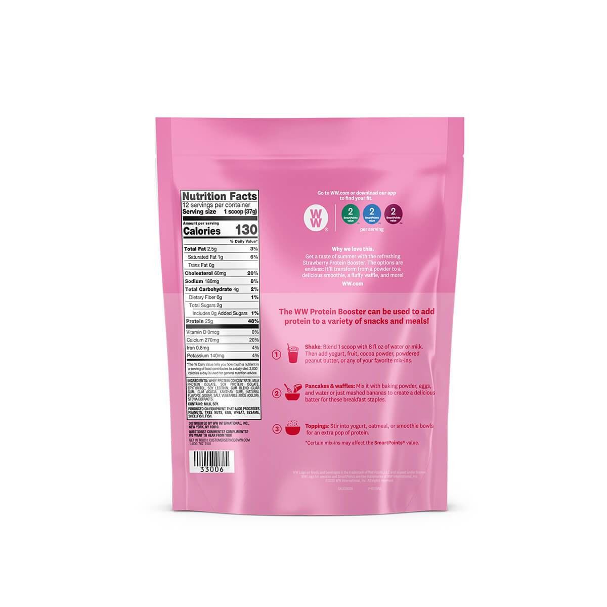 Strawberry Protein Booster - back