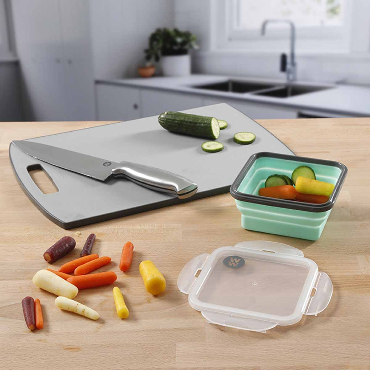 3-Piece Collapsible Silicone Lunch Containers - alternate view