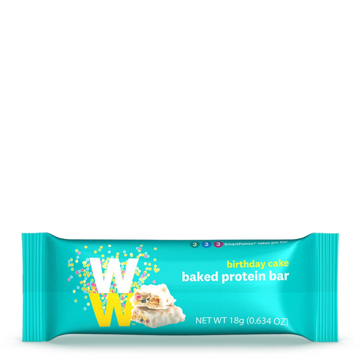 Birthday Cake Baked Protein Bar - bar