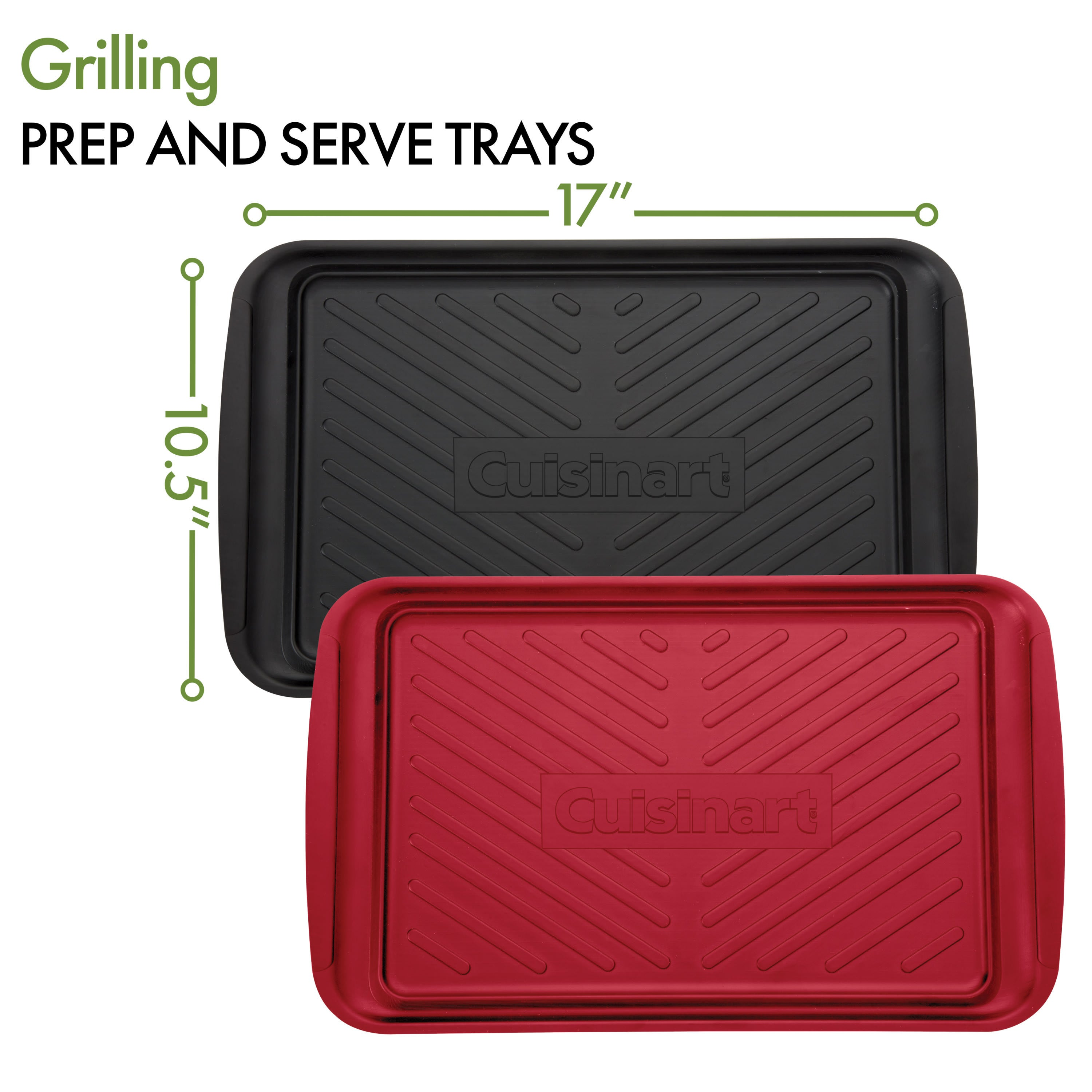 Cuisinart Grilling Prep and Serve Trays - dimensions