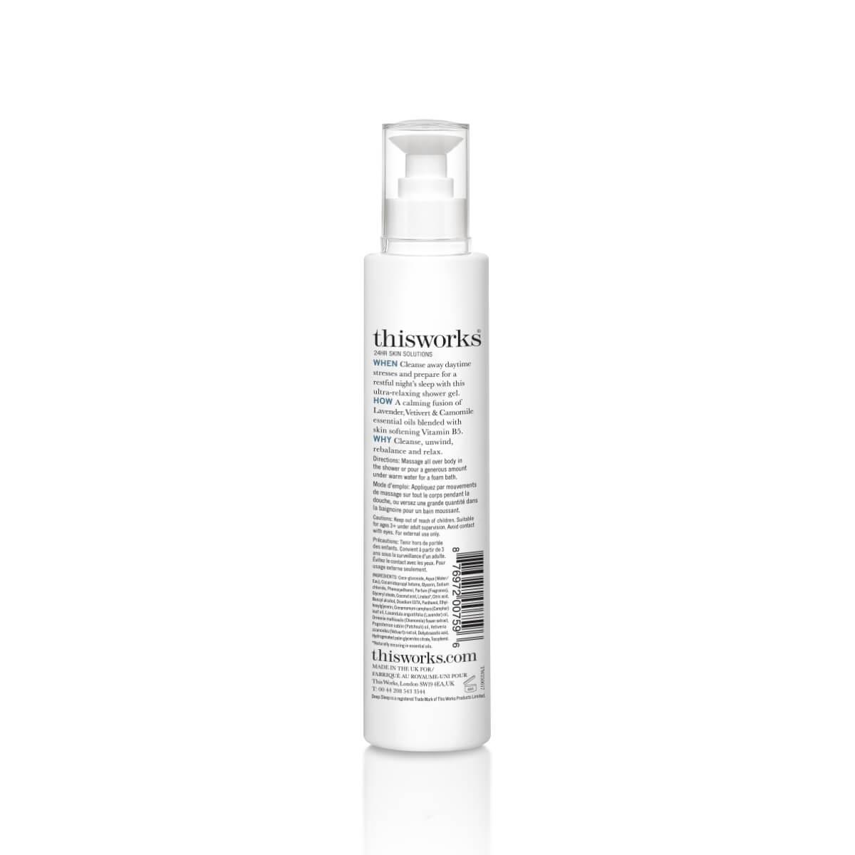 ThisWorks Deep Sleep Shower Gel - back of bottle