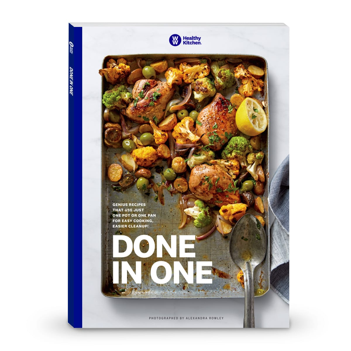 Done in One Cookbook, front cover of book, recipes using one one or pan