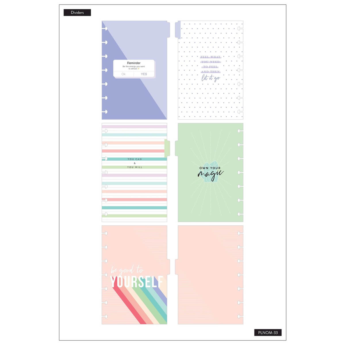 The Happy Planner Wellness Mini Notebook - page
