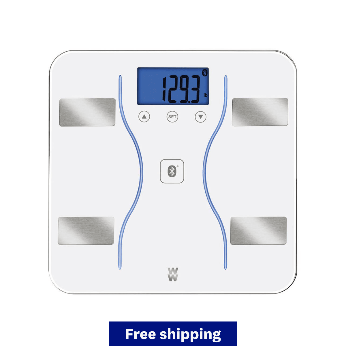 Body Analysis Bluetooth Scale White - free shipping banner