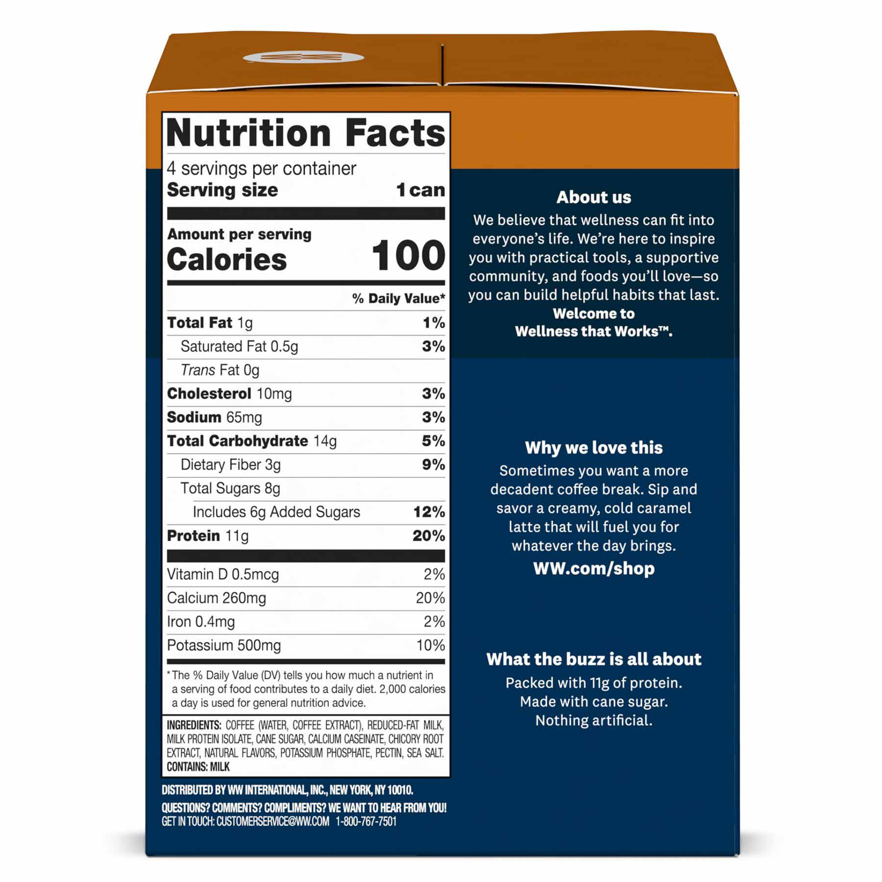 Caramel latte - nutritional info