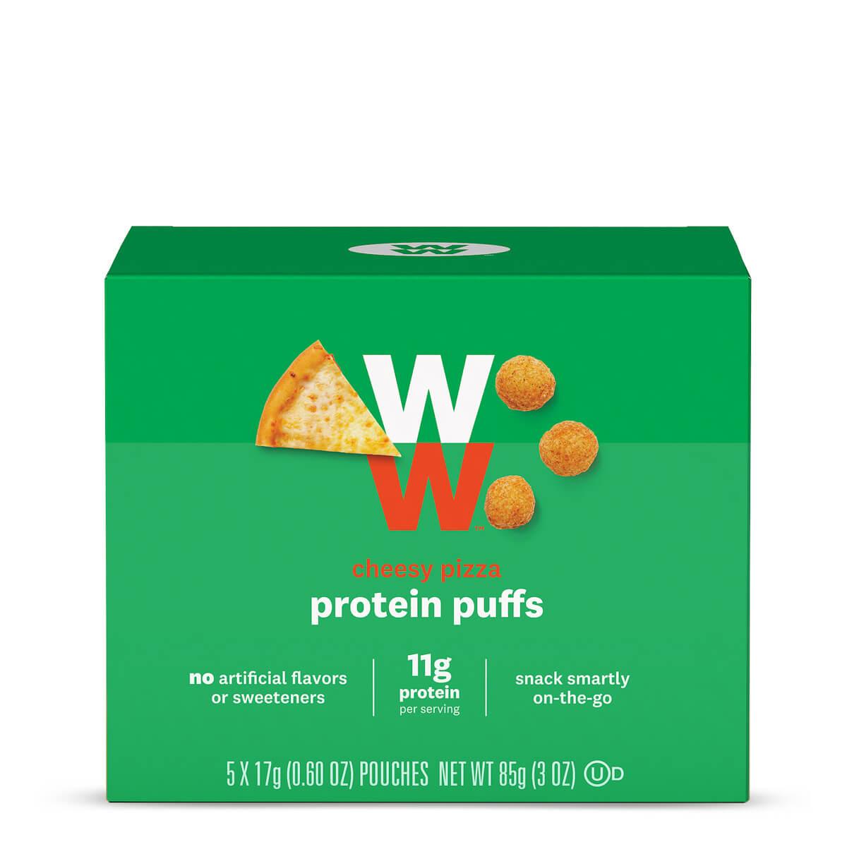 Cheesy Pizza Protein Puffs
